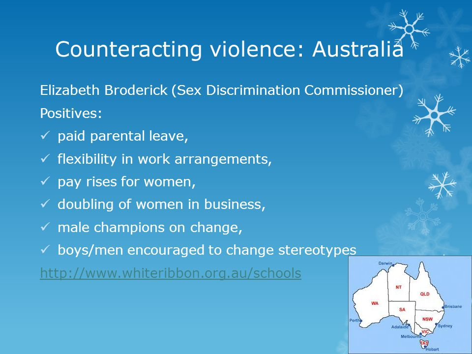 Counteracting violence: Australia