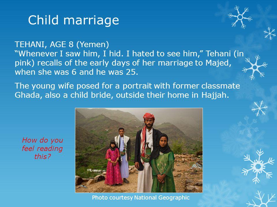 Child marriage TEHANI, AGE 8 (Yemen)