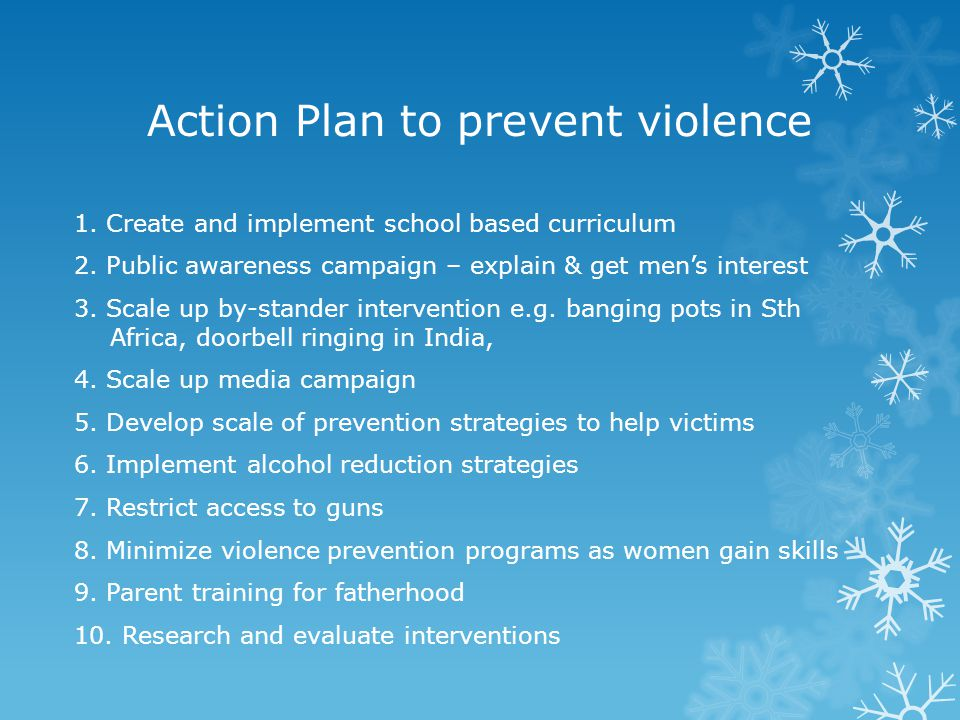 Action Plan to prevent violence
