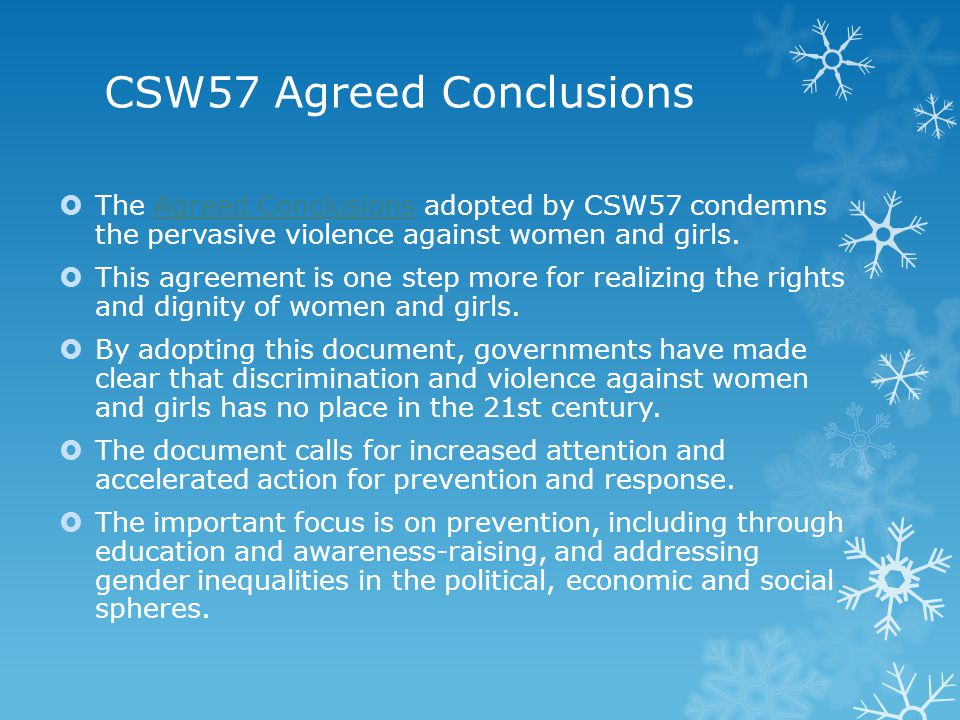 CSW57 Agreed Conclusions