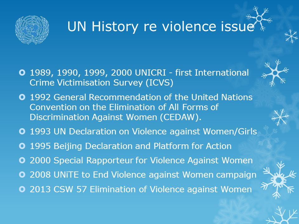 UN History re violence issue