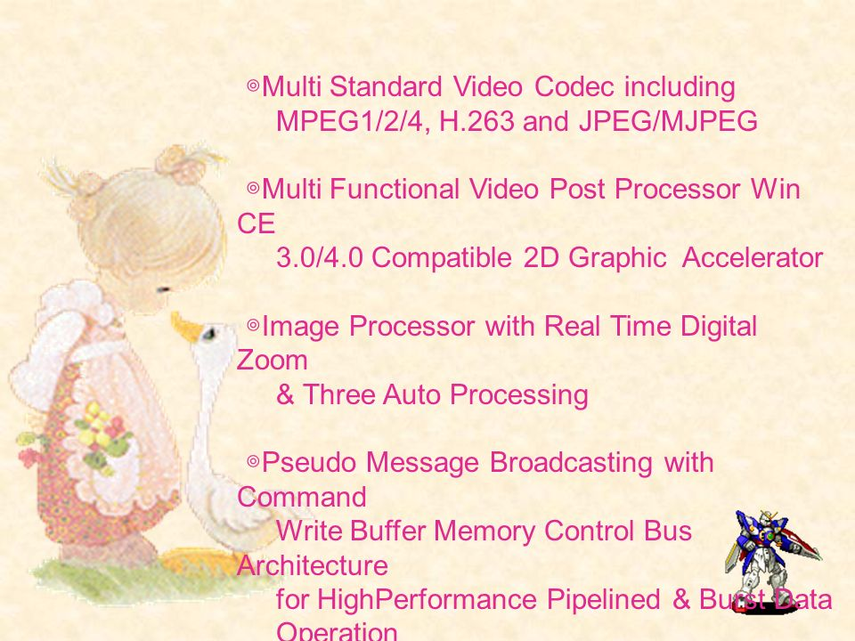 ◎Multi Standard Video Codec including