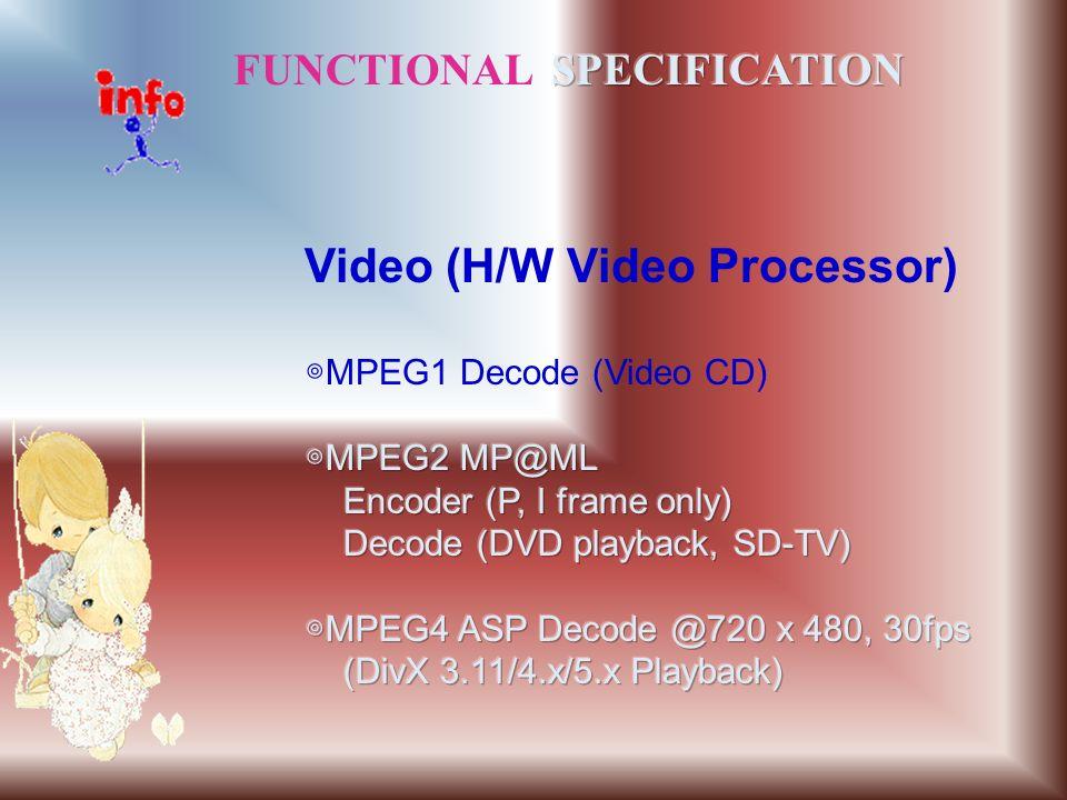 Video (H/W Video Processor)