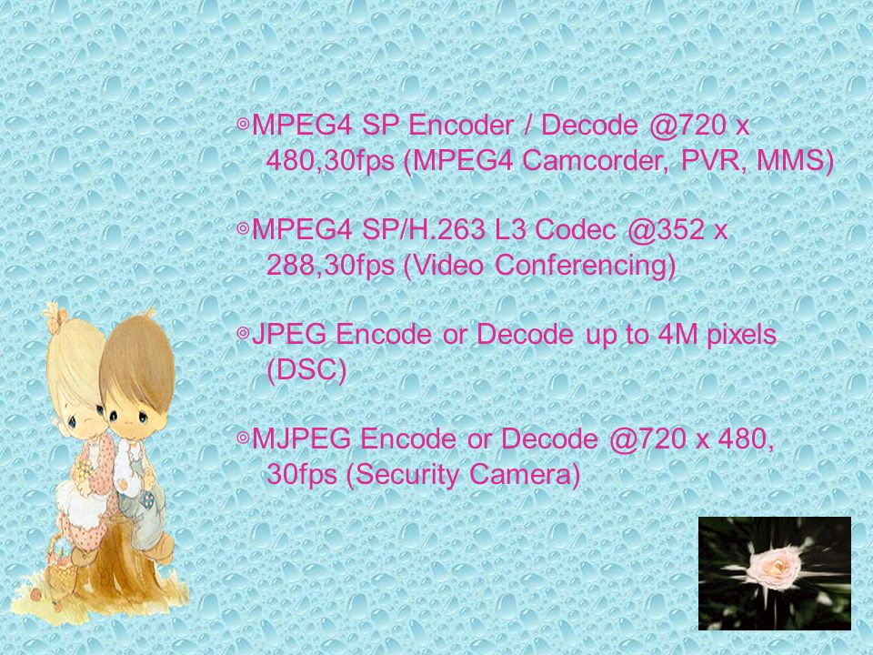 ◎MPEG4 SP Encoder / Decode @720 x