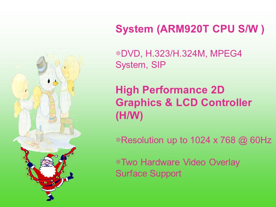 High Performance 2D Graphics & LCD Controller (H/W)