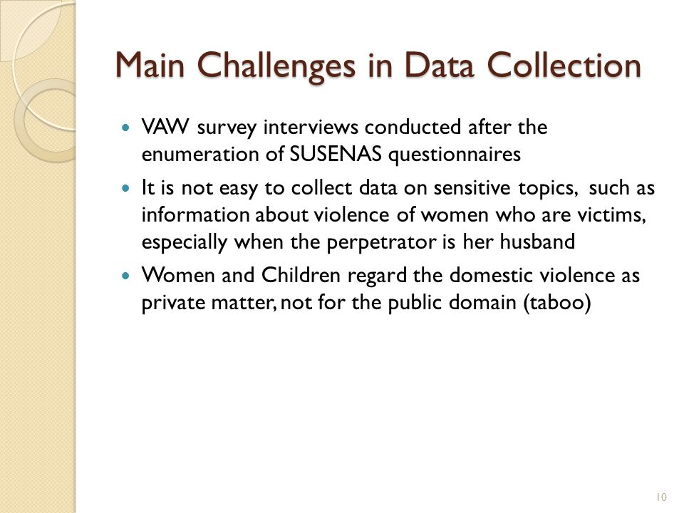 Main Challenges in Data Collection