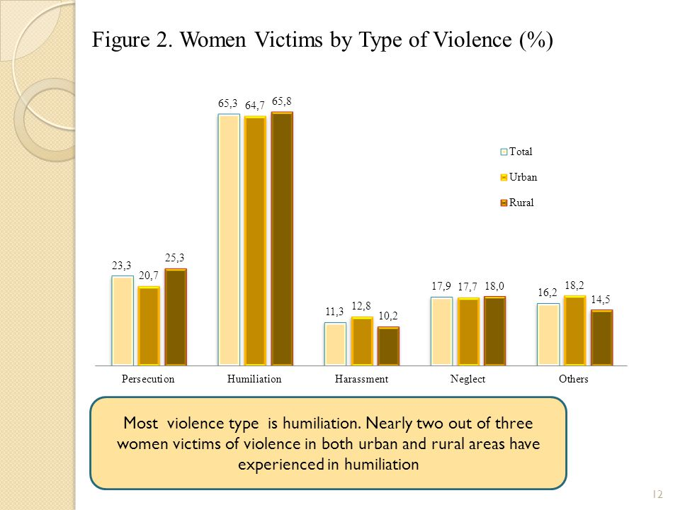 Figure 2. Women Victims by Type of Violence (%)