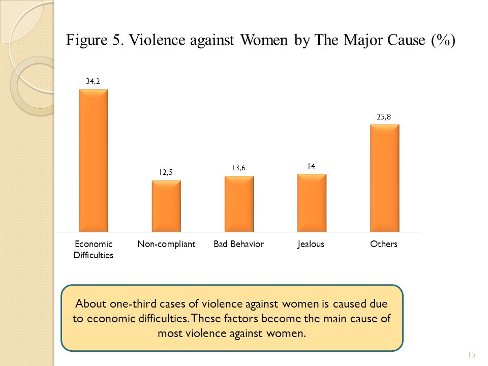 Figure 5. Violence against Women by The Major Cause (%)