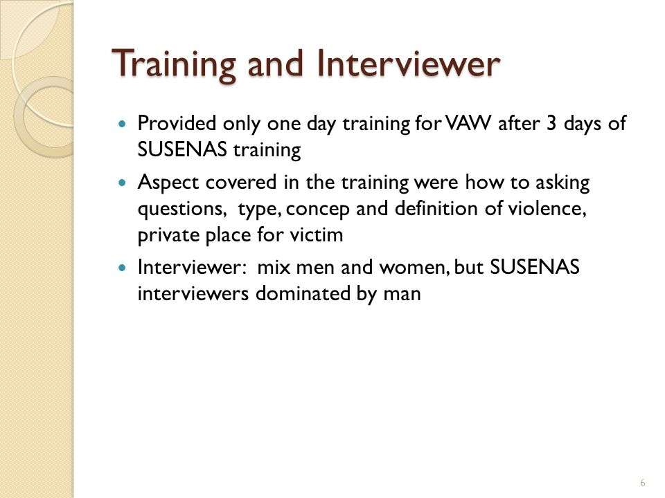 Training and Interviewer