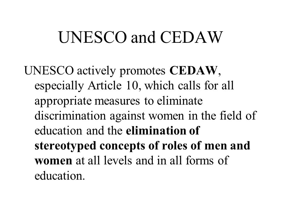 UNESCO and CEDAW
