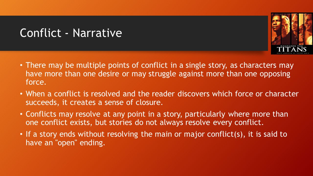 Conflict - Narrative