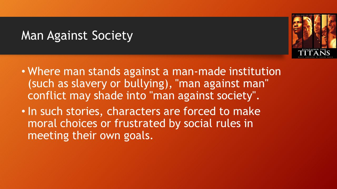 Man Against Society