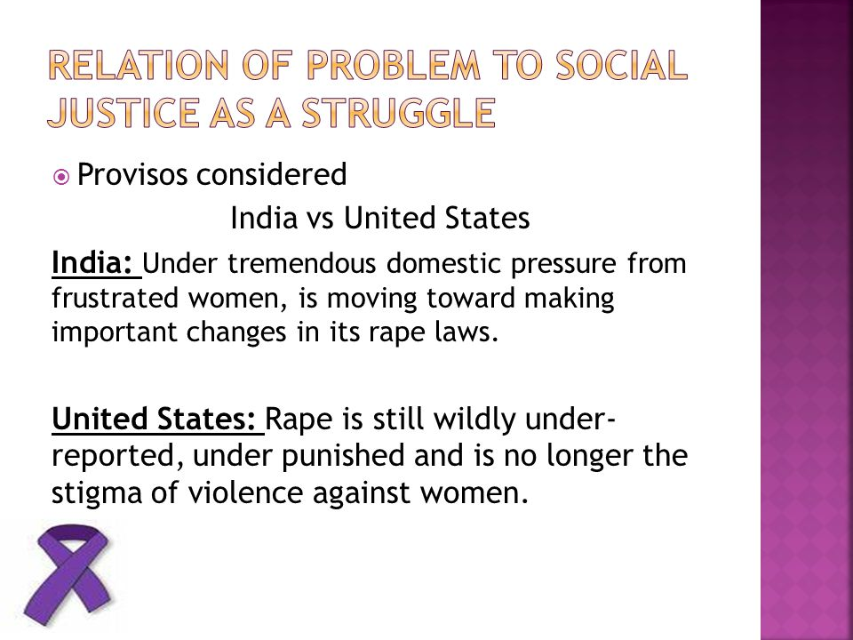Relation of problem to social justice as a struggle