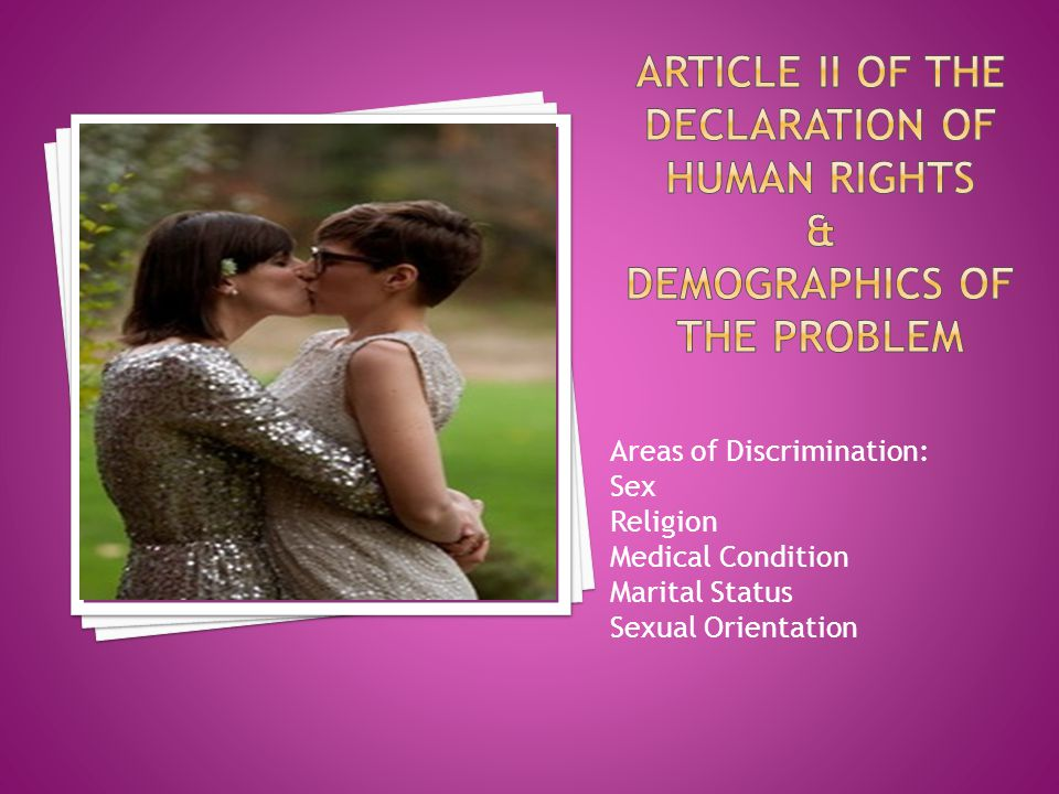 Article II of the declaration of human rights & Demographics of the Problem