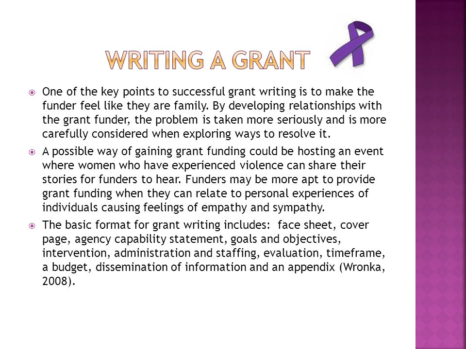 Writing a grant