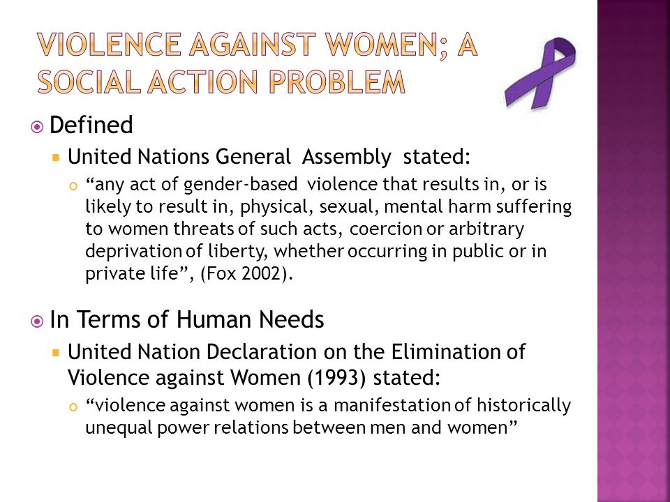 Violence Against Women; A social action problem