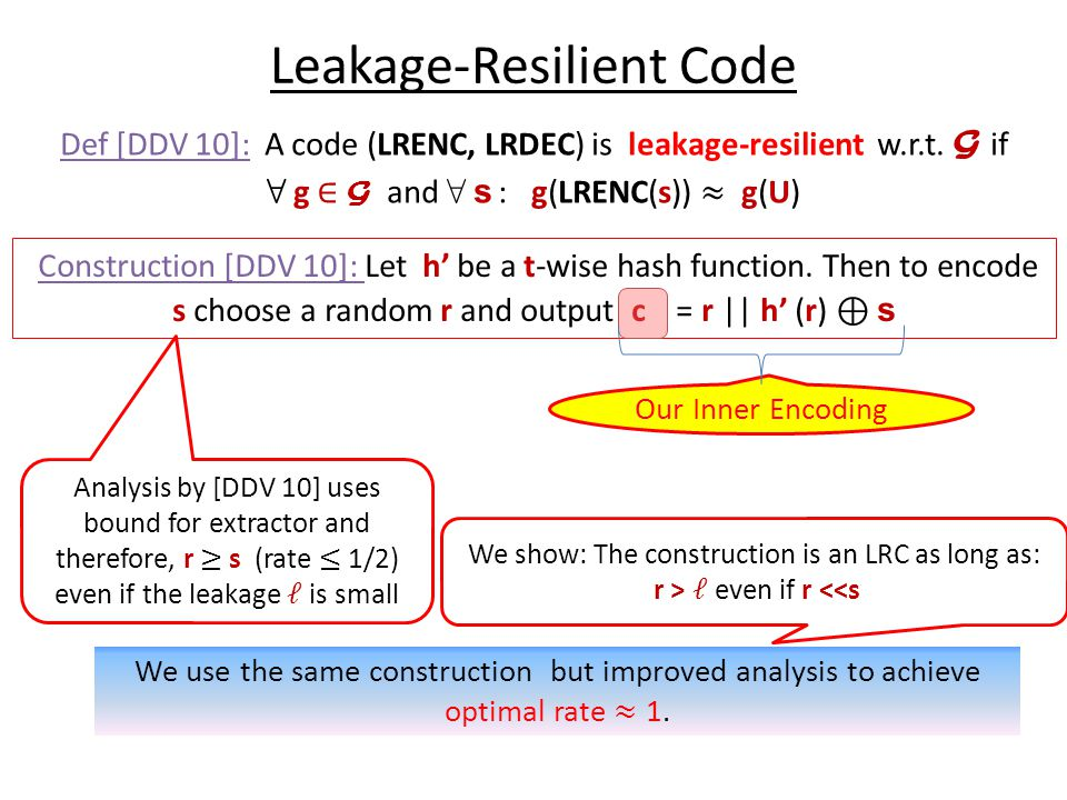 Leakage-Resilient Code