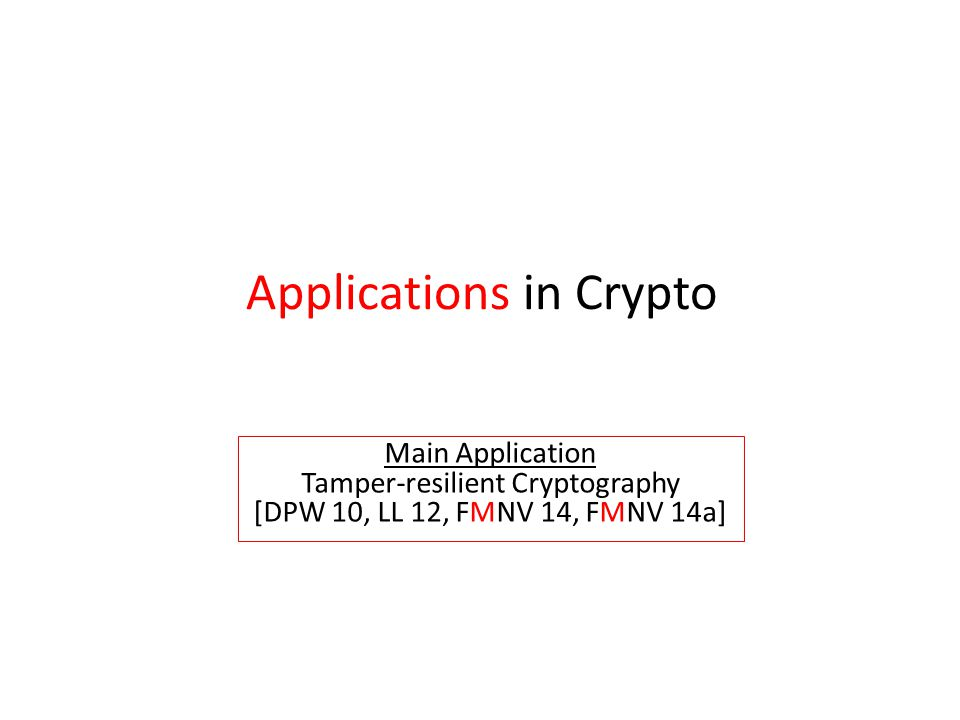 Tamper-resilient Cryptography
