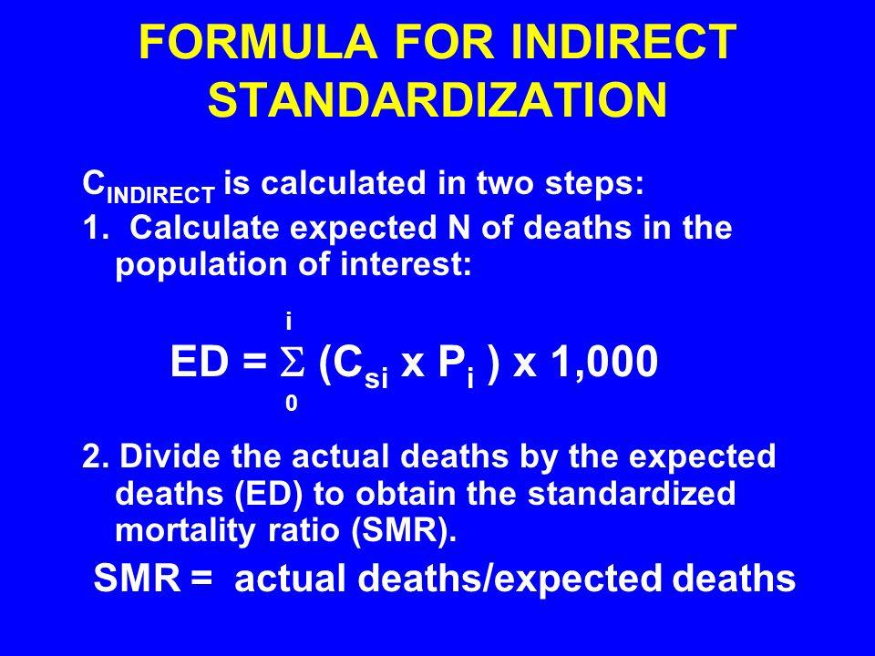 FORMULA FOR INDIRECT STANDARDIZATION