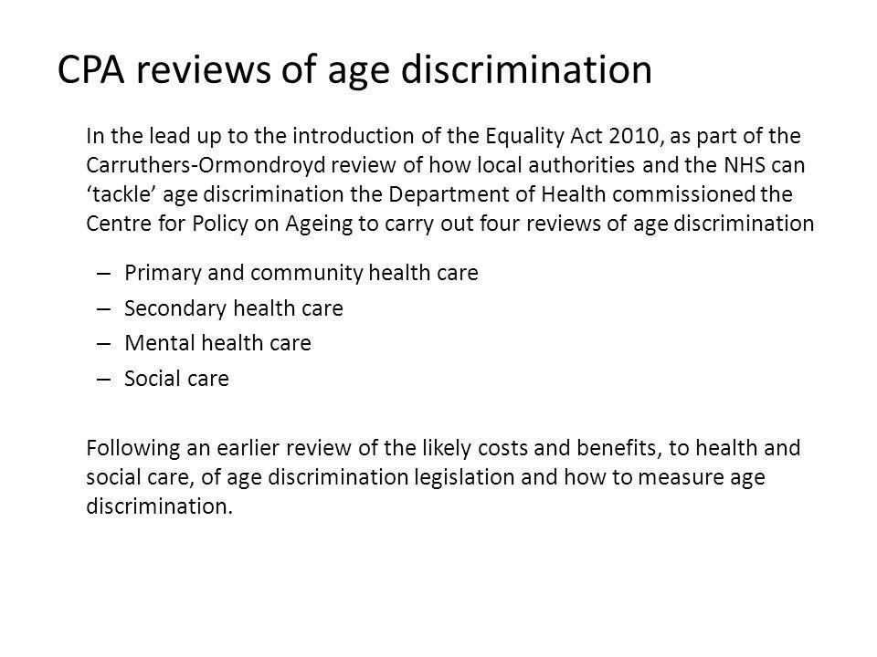 CPA reviews of age discrimination