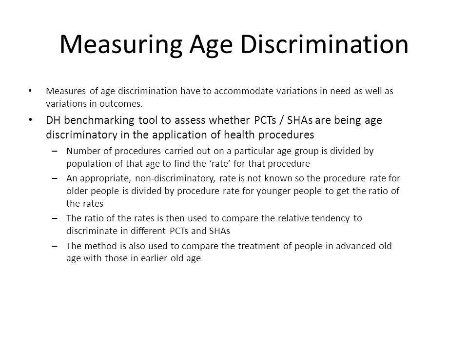 Measuring Age Discrimination