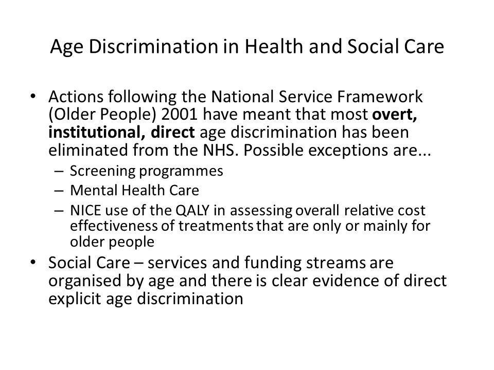 Age Discrimination in Health and Social Care