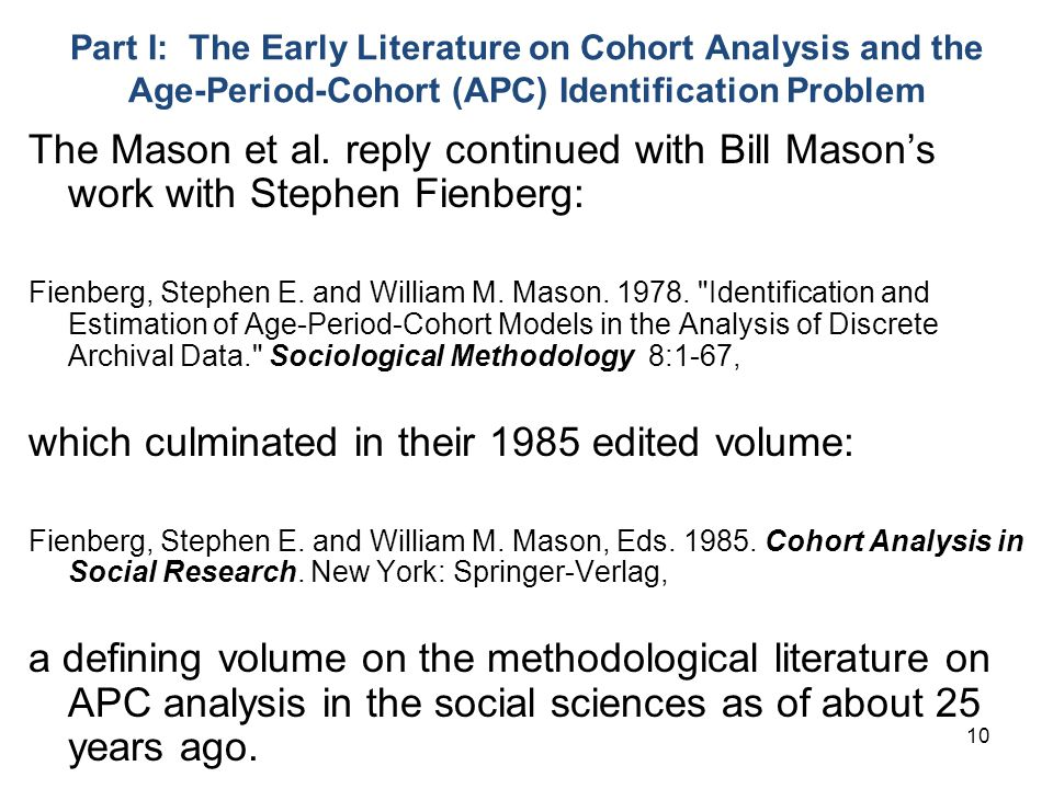 which culminated in their 1985 edited volume: