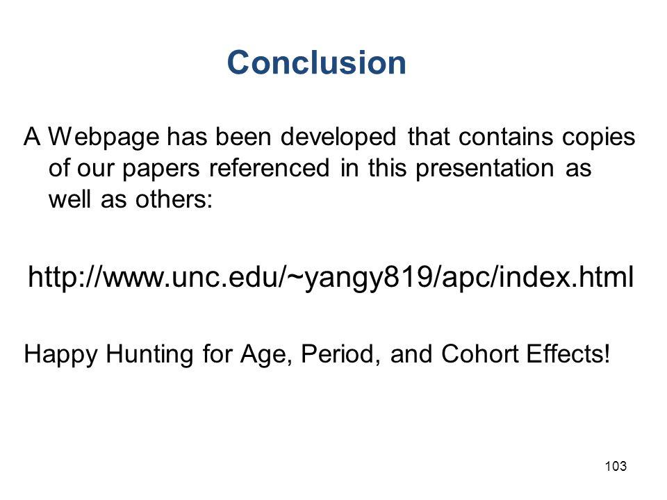 Conclusion http://www.unc.edu/~yangy819/apc/index.html
