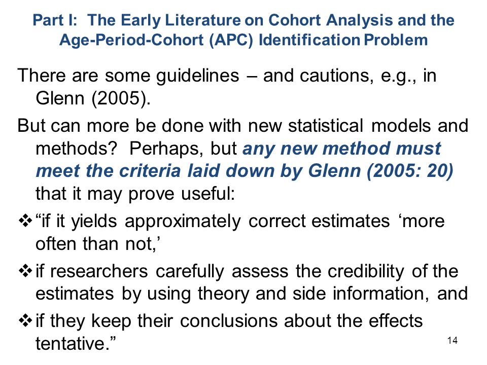 There are some guidelines – and cautions, e.g., in Glenn (2005).