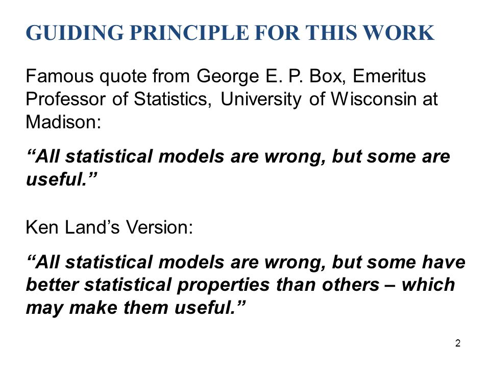 GUIDING PRINCIPLE FOR THIS WORK