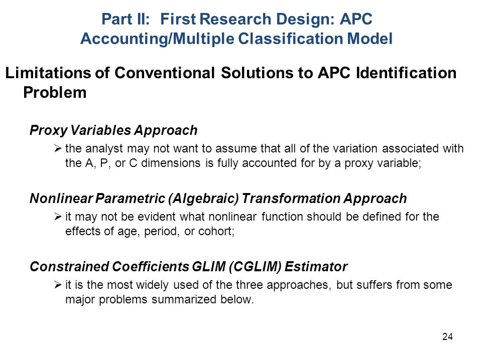 Limitations of Conventional Solutions to APC Identification Problem