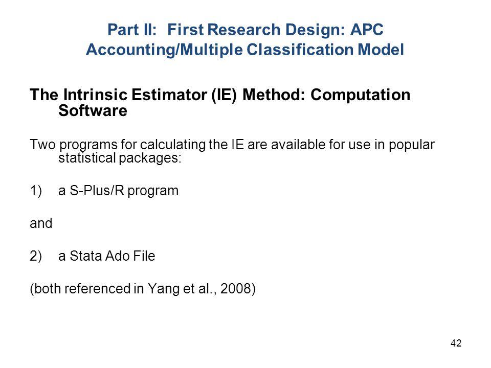 The Intrinsic Estimator (IE) Method: Computation Software