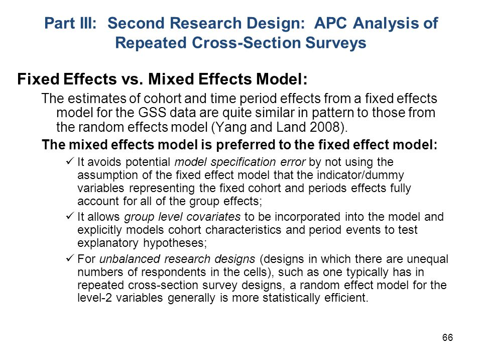 Fixed Effects vs. Mixed Effects Model: