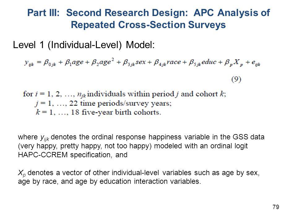 Level 1 (Individual-Level) Model: