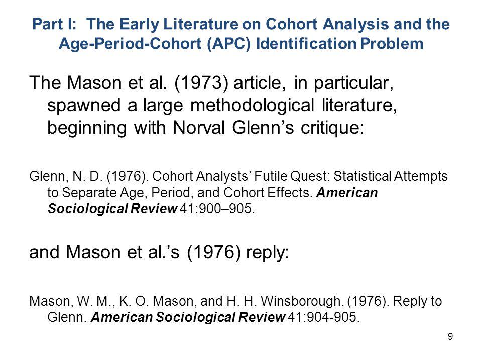 and Mason et al.'s (1976) reply: