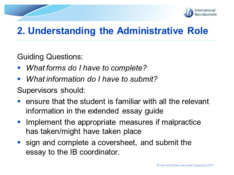 2. Understanding the Administrative Role