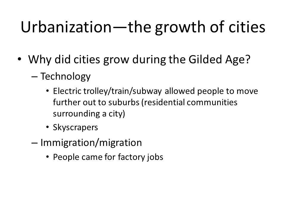 Urbanization—the growth of cities
