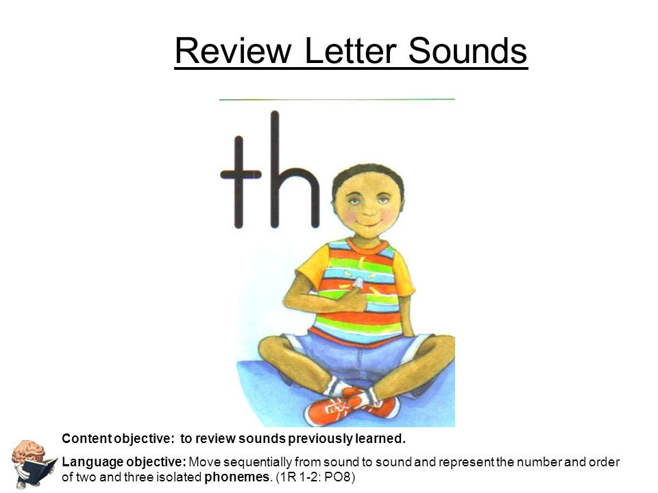 Review Letter Sounds Content objective: to review sounds previously learned.