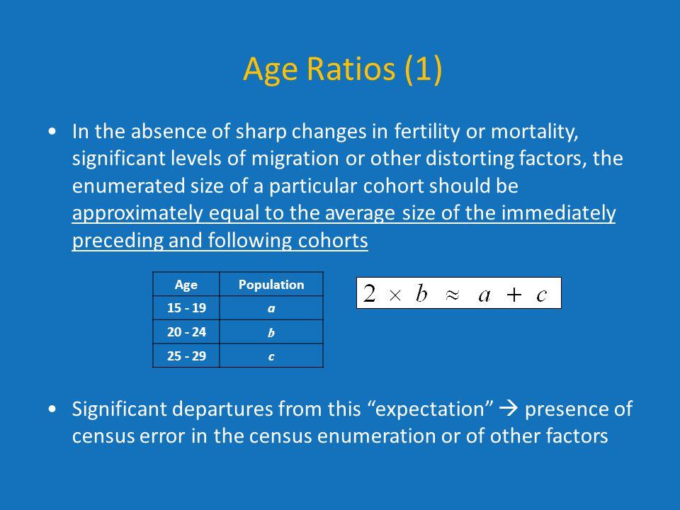 Age Ratios (1)