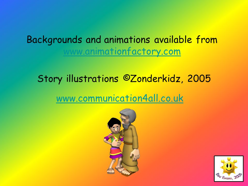 Backgrounds and animations available from