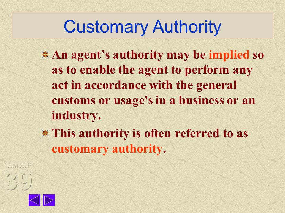 Customary Authority