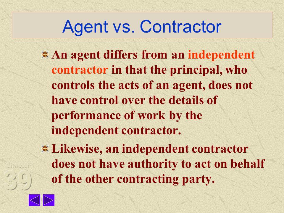 Agent vs. Contractor