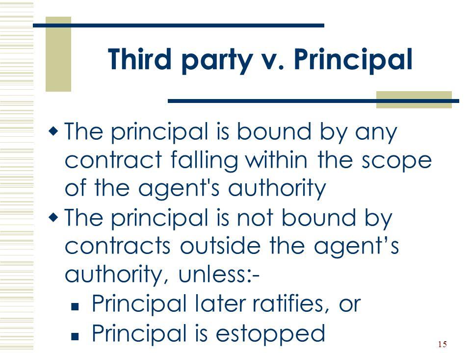 Third party v. Principal