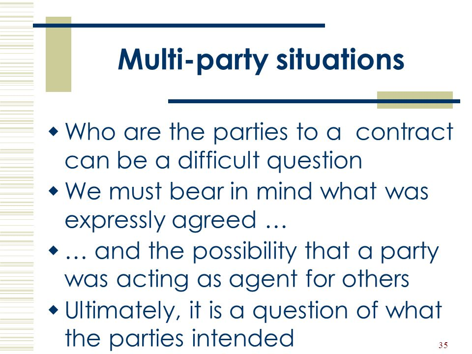 Multi-party situations