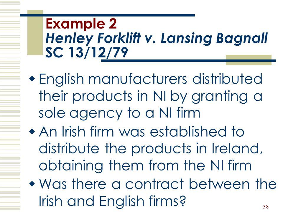 Example 2 Henley Forklift v. Lansing Bagnall SC 13/12/79