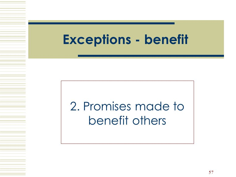 2. Promises made to benefit others