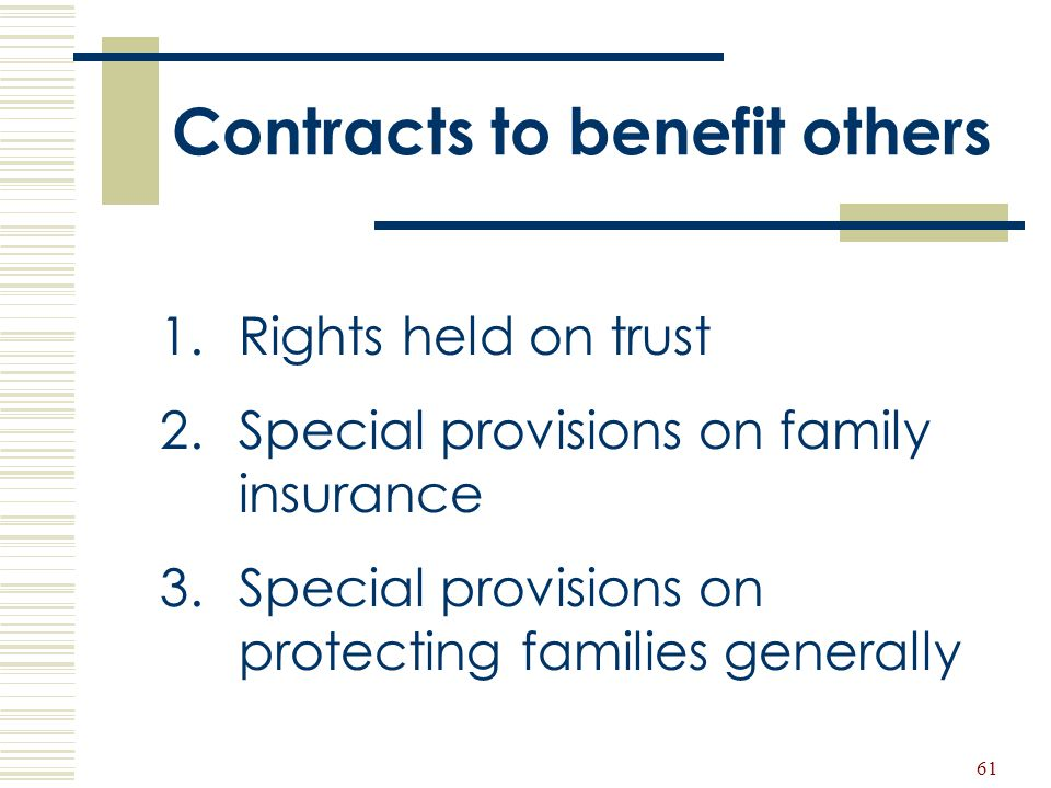 Contracts to benefit others