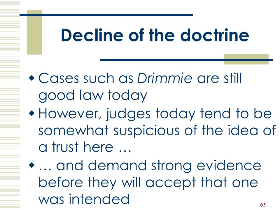 Decline of the doctrine