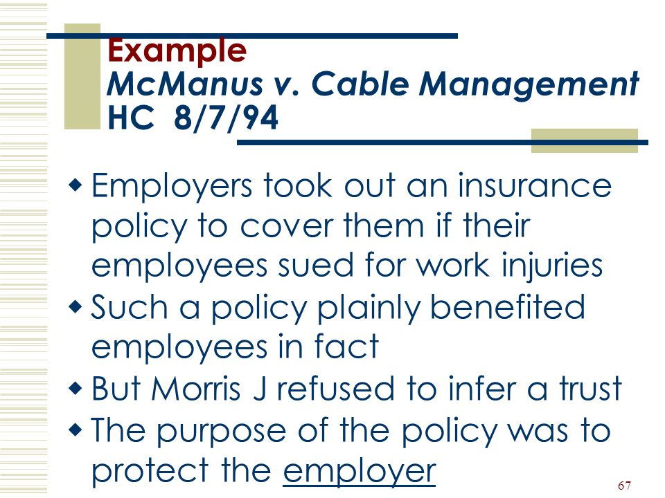 Example McManus v. Cable Management HC 8/7/94