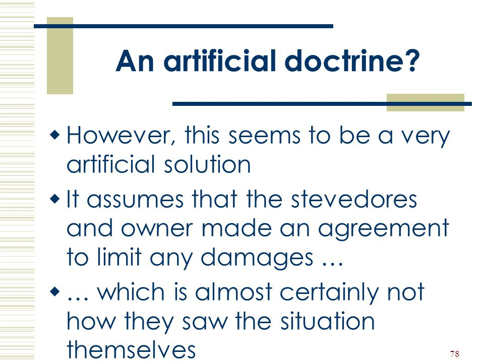 An artificial doctrine